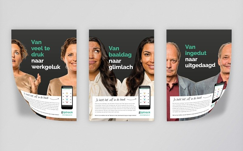 AWVN campagne Tiptrack - posters