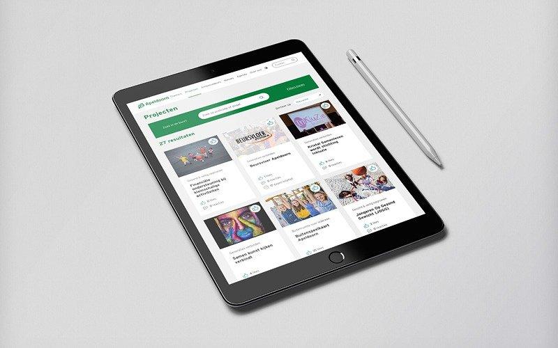 Gemeente apeldoorn - website gezinsstad Apedoorn ipad