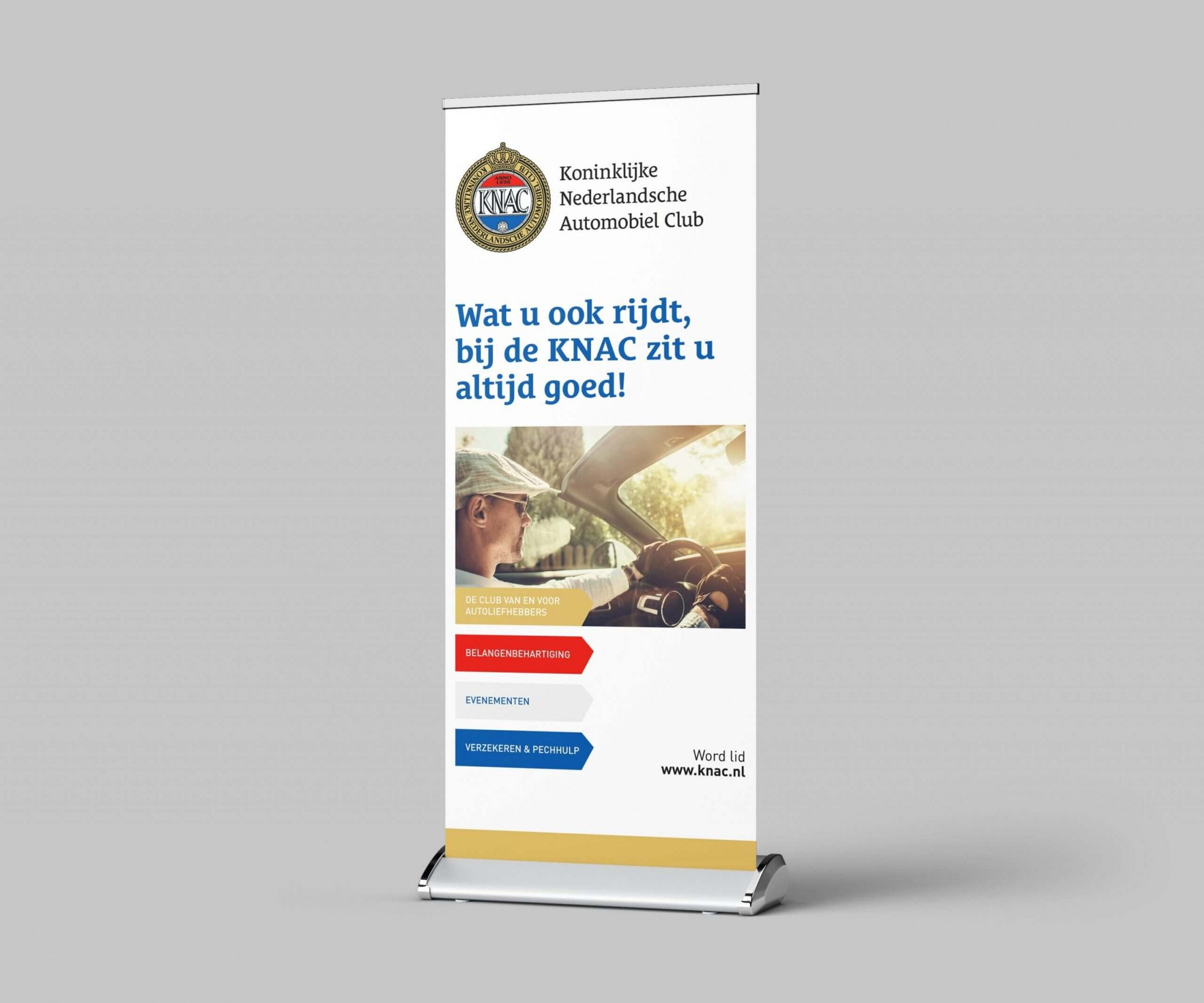 KNAC roll-up banier - Conceptinc